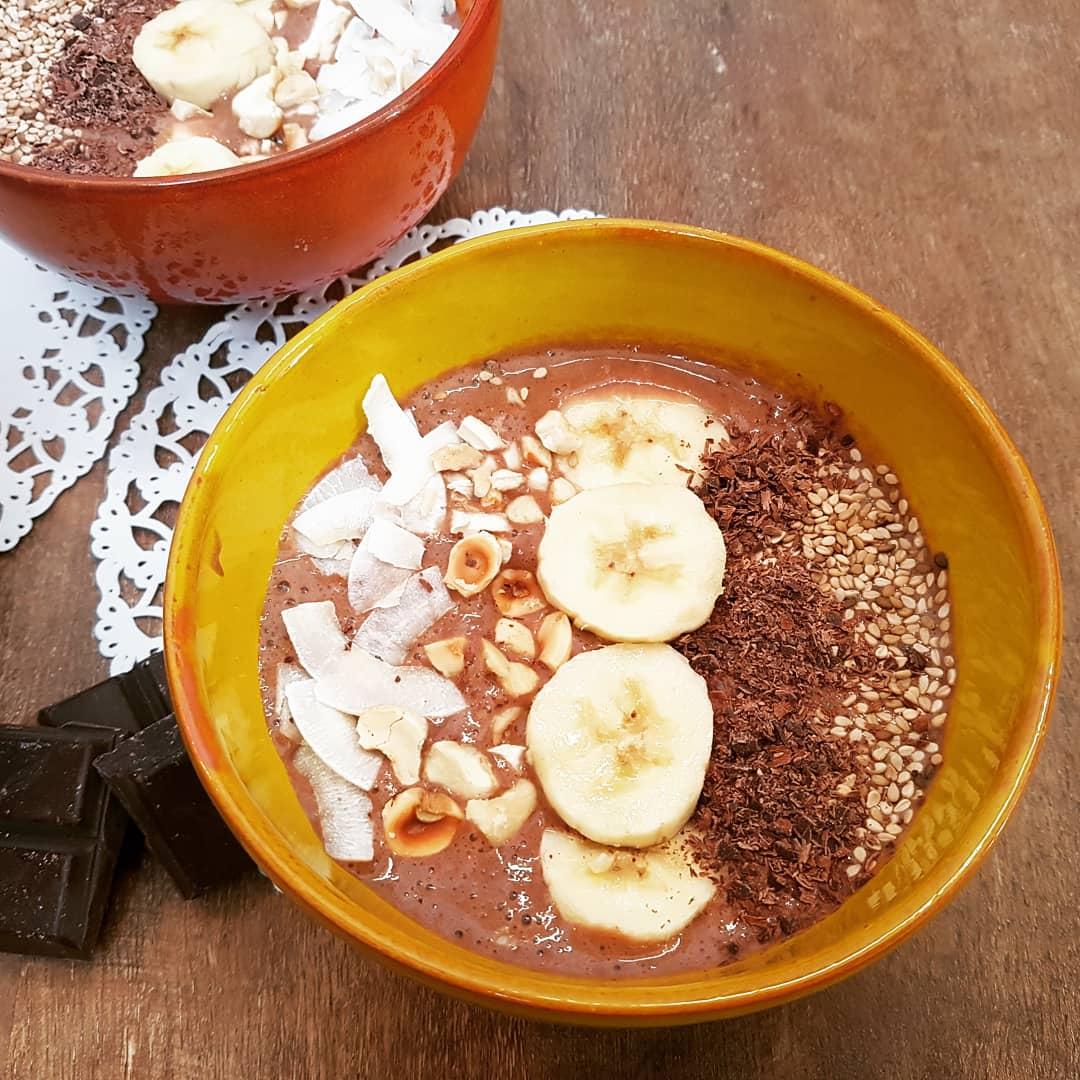 Smoothie Bowl Chocolat, Banane au lait végétal
