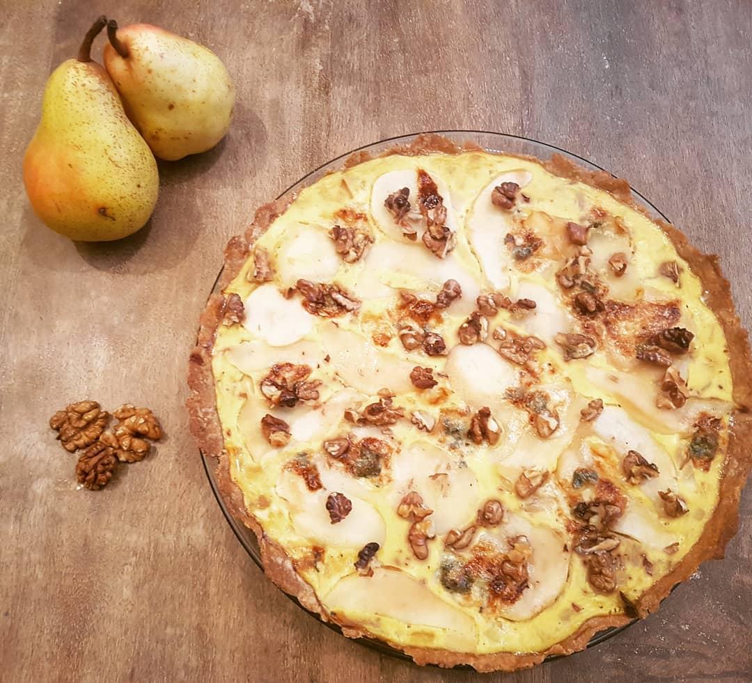 Tarte salée gorgonzola noix