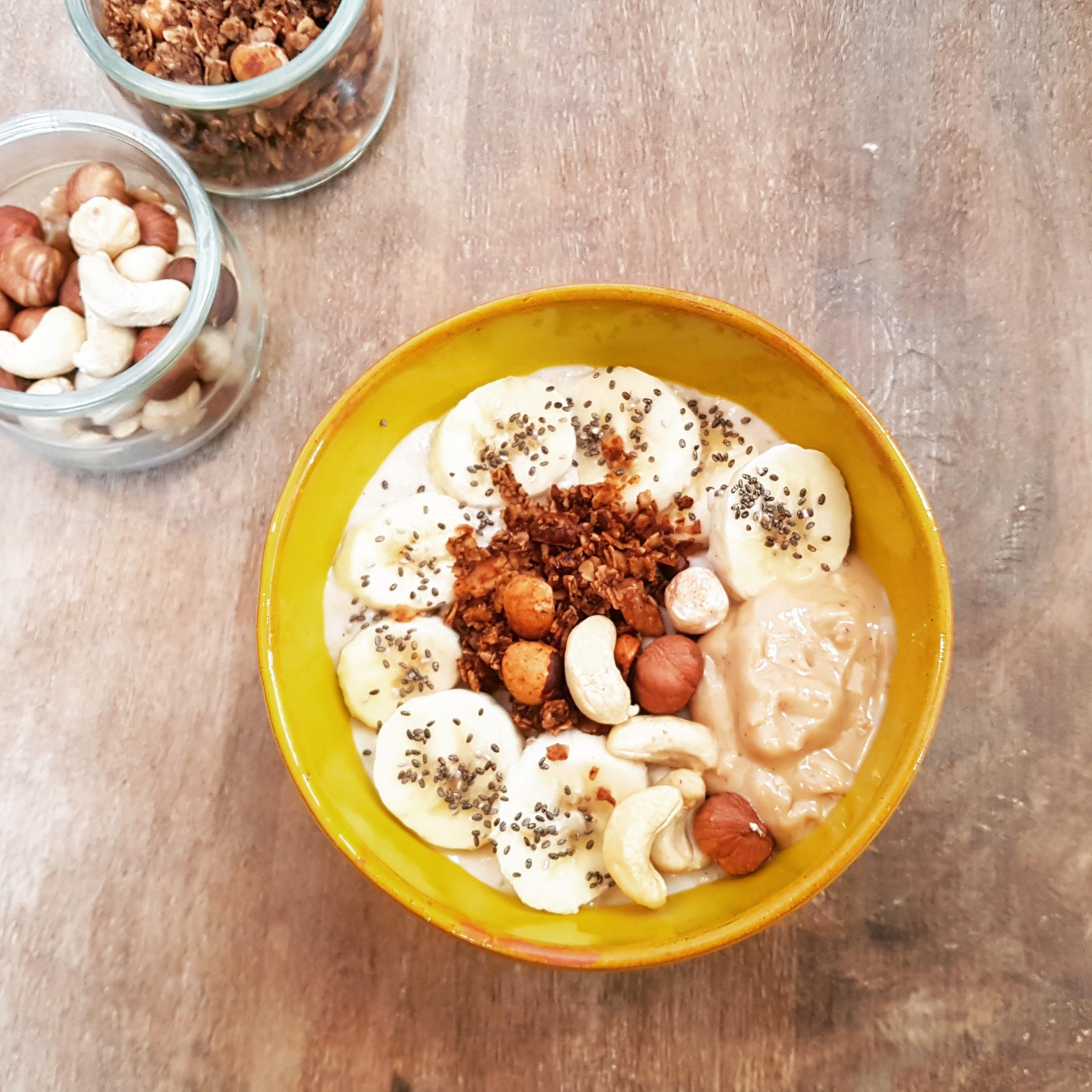 Porridge Banane et Beurre de Cacahuète