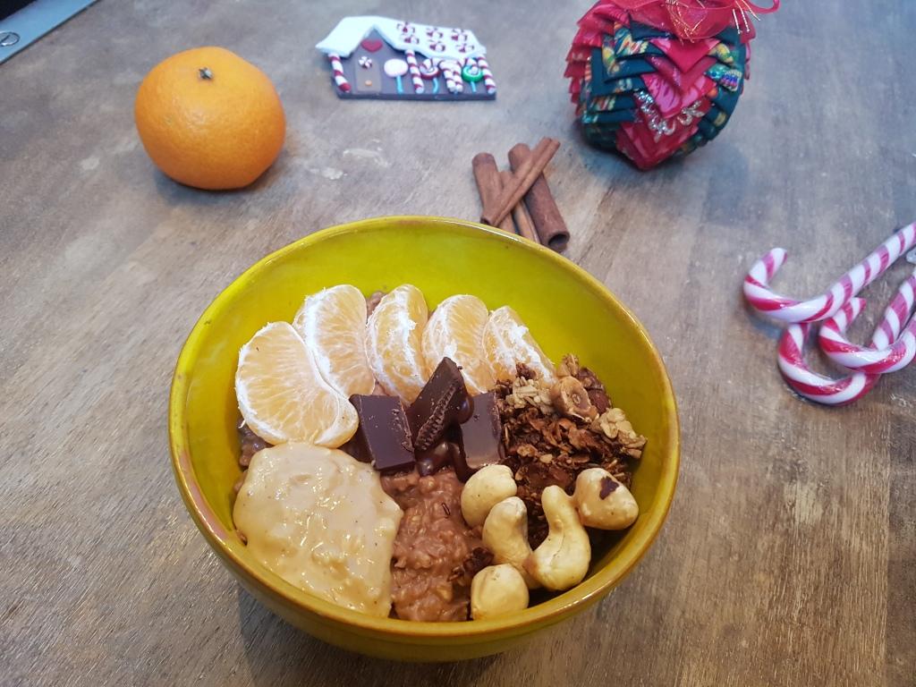 Porridge chocolat et clementine