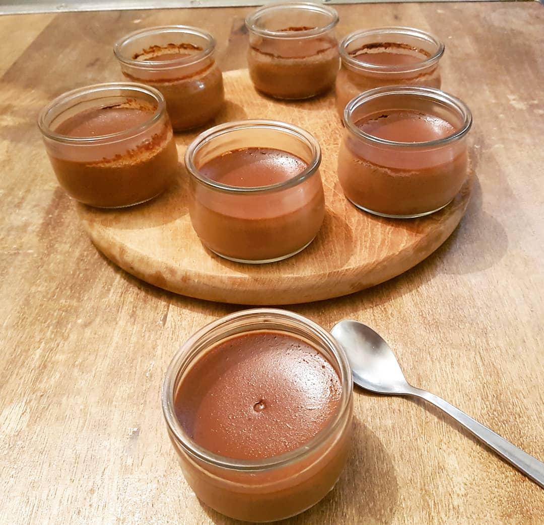 Crème au chocolat sans lait de vache
