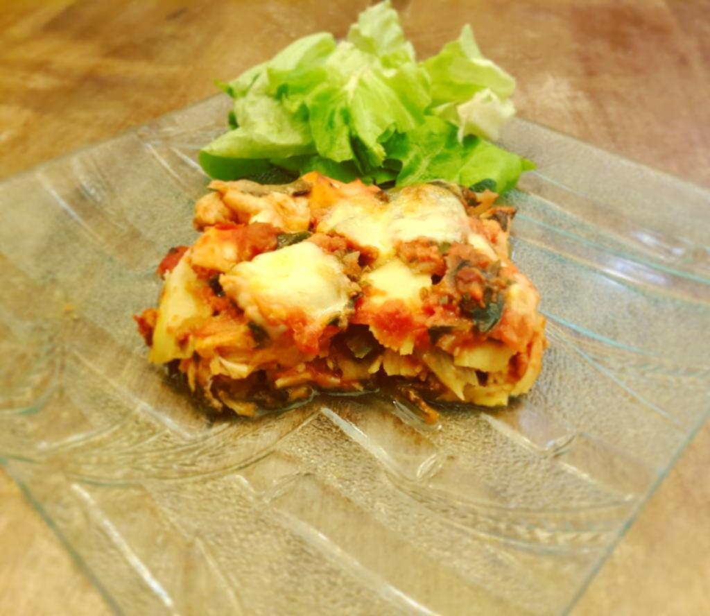 Lasagne aux blettes et au saumon