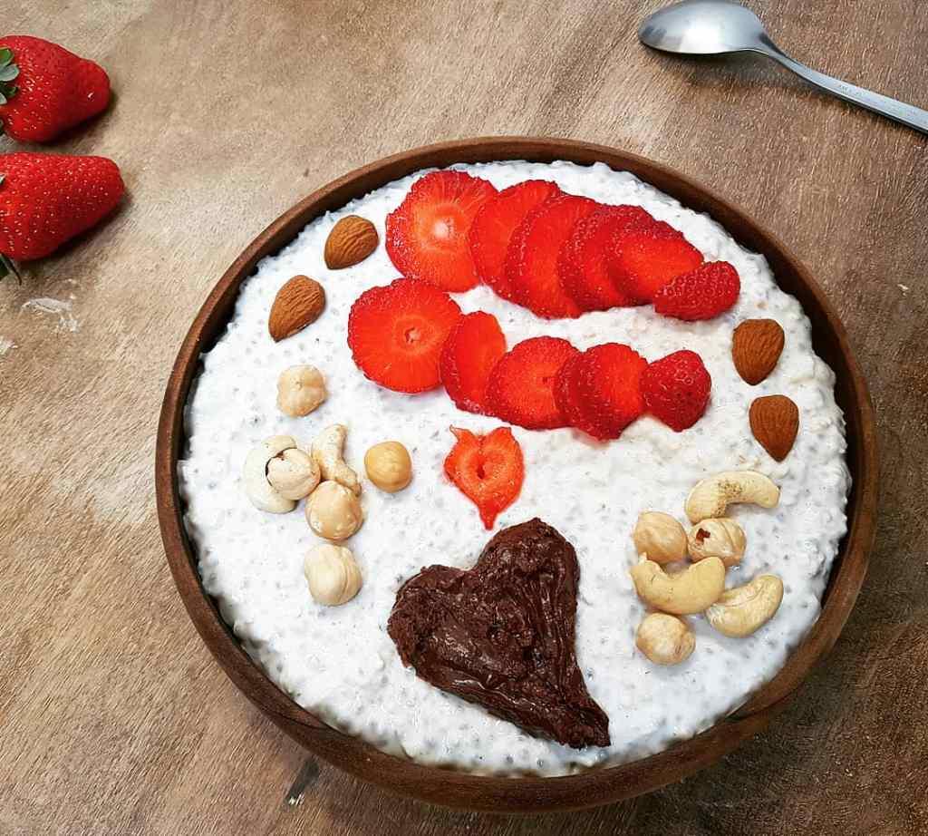 Overnight Oats fraise chocolat