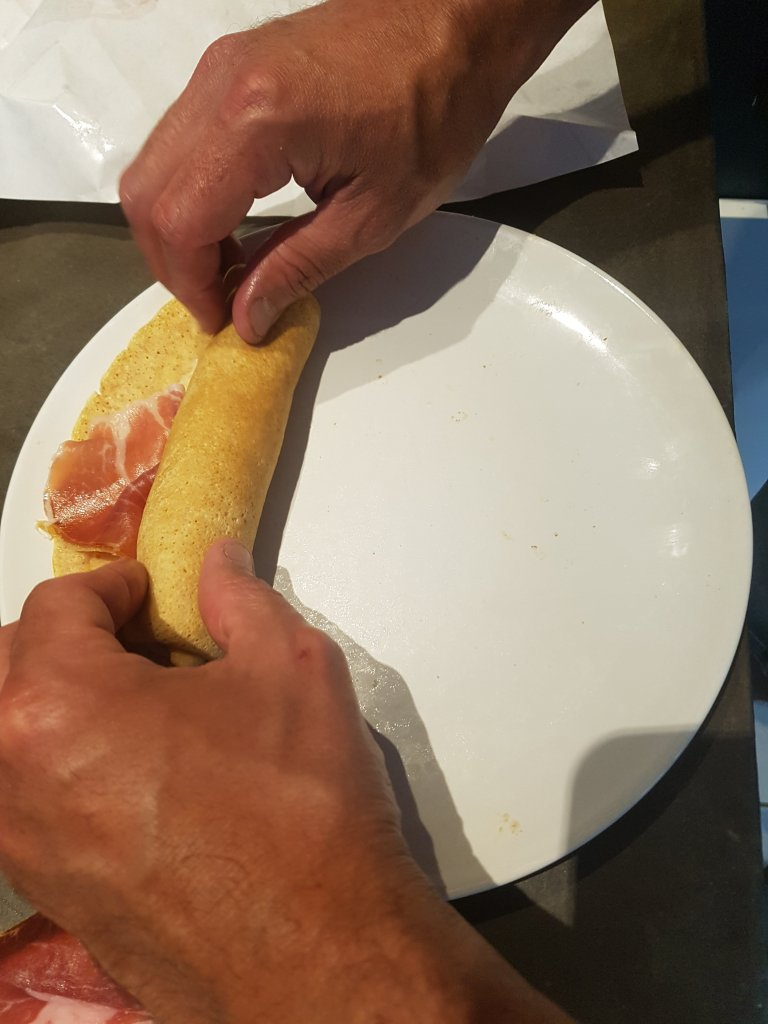 Crêpe au jambon