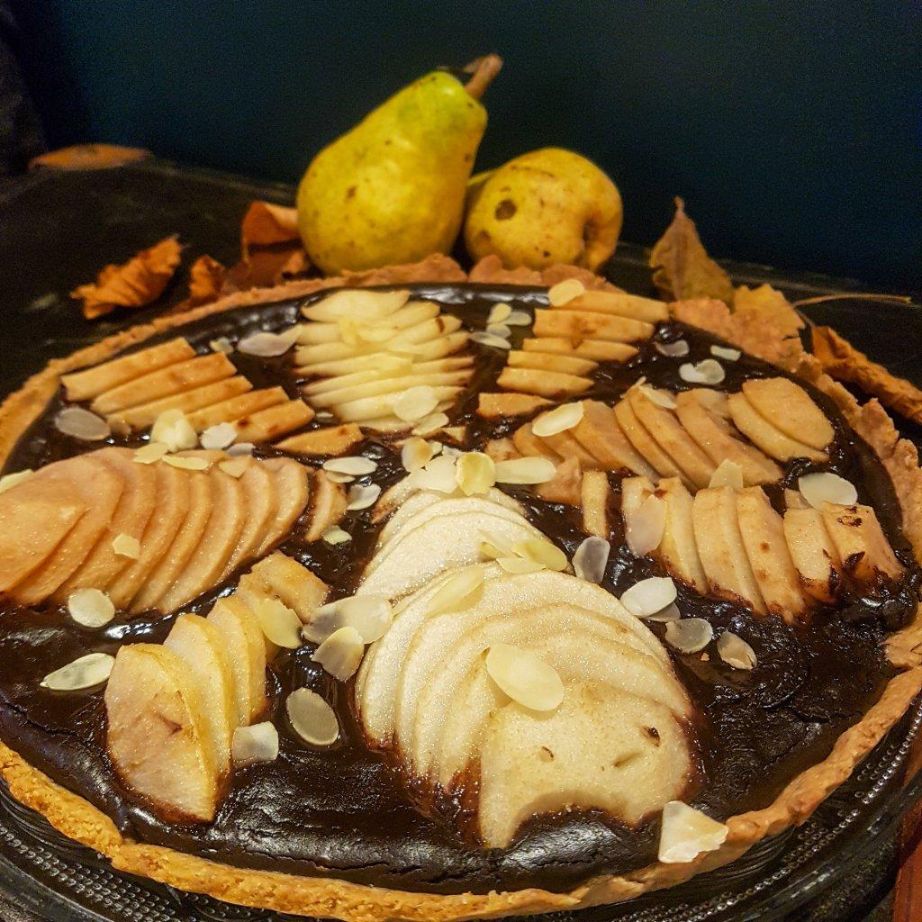 tarte poire chocolat sans sucre