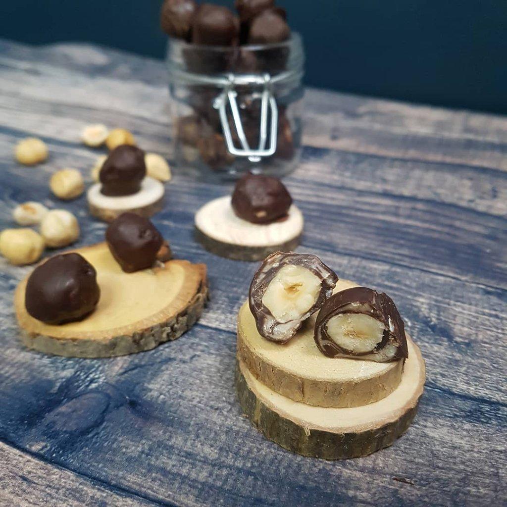 recette de noisettes enrobées de chocolat