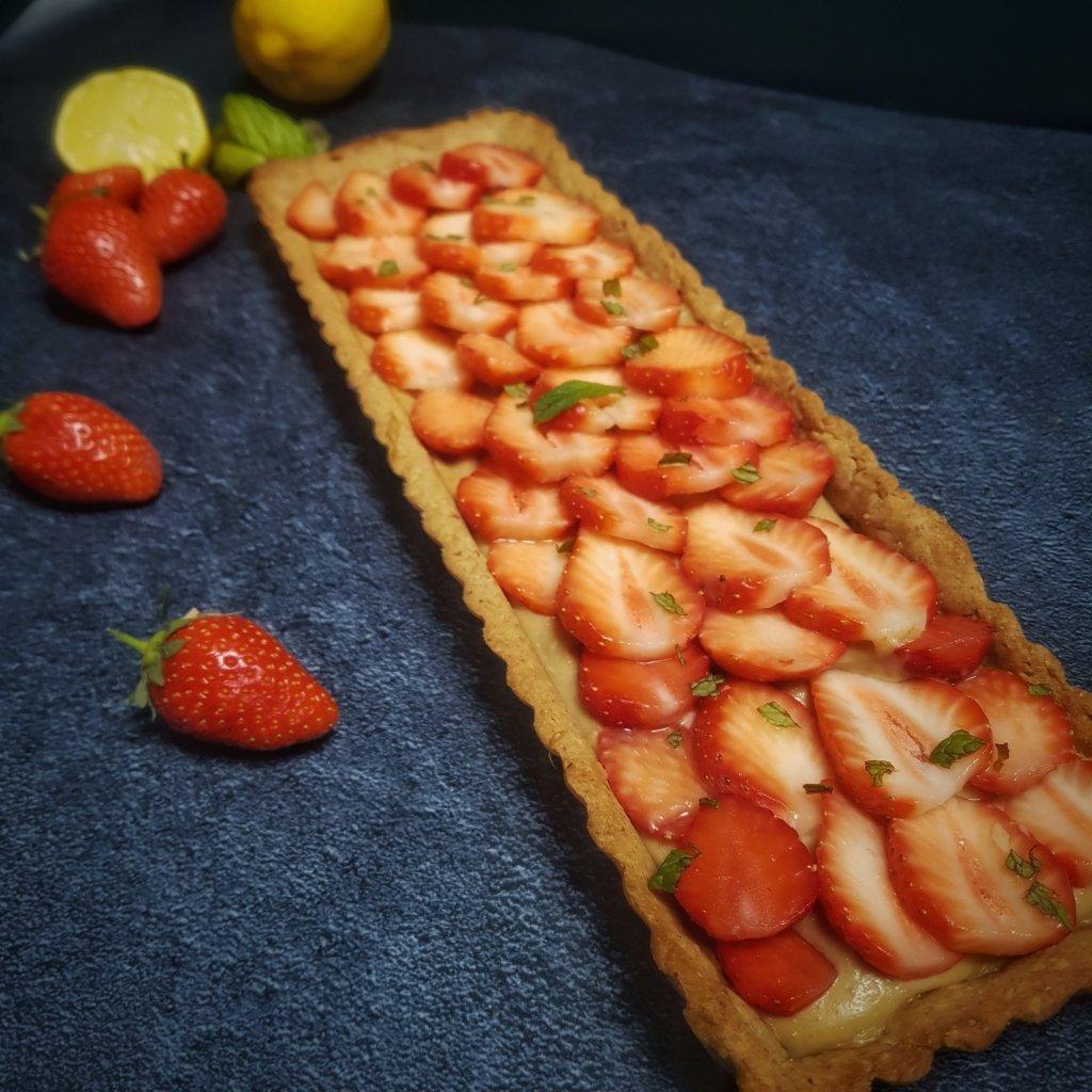 tarte aux fraises sans beurre