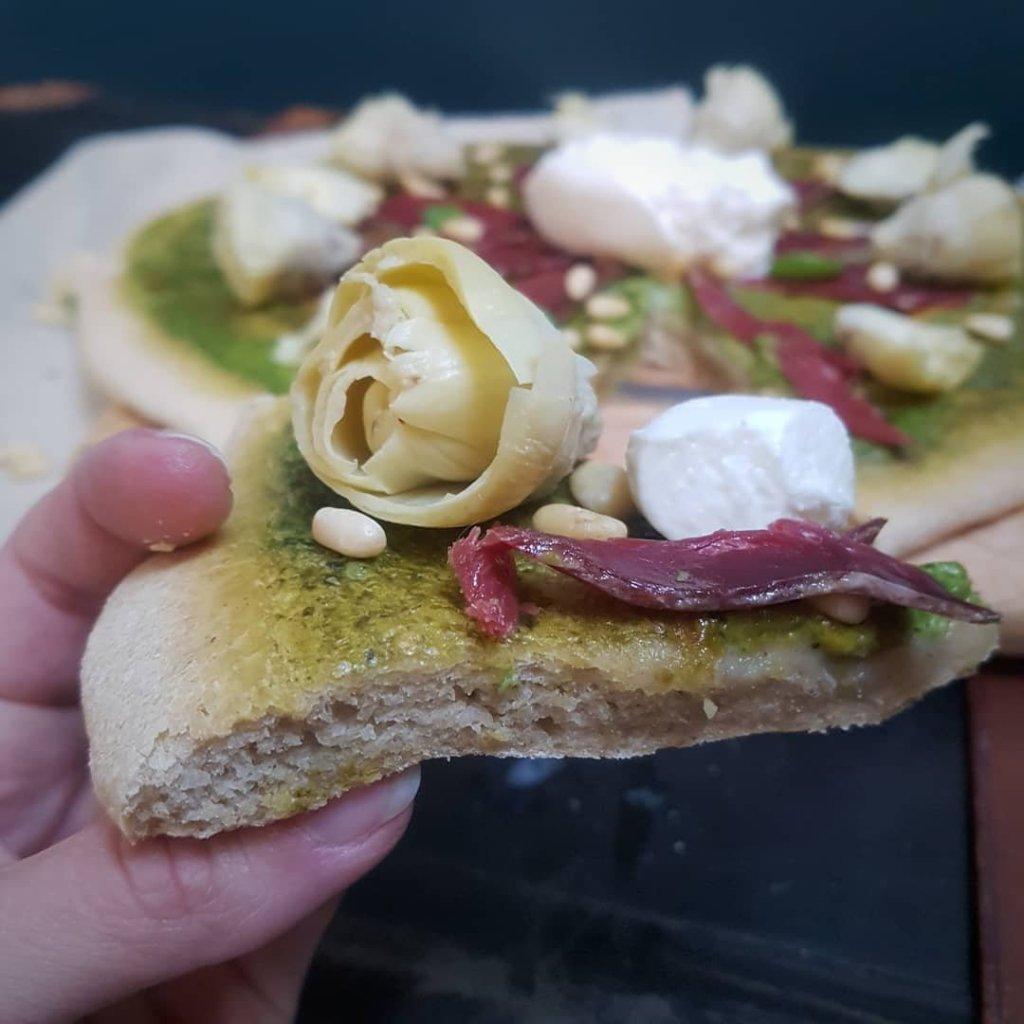 pizza pesto et artichaud